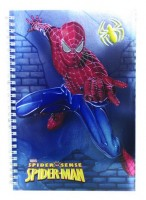 Spiderman Metal Spiral Notebook