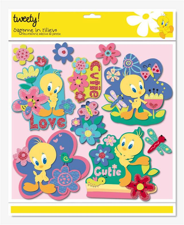 Sticker 3d Parete.Tweety Sticker 3d