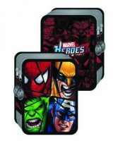 Marvel Heroes Double Decker Pencil case 15.5x21.5x4.5cm